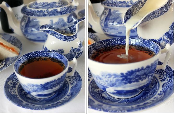 spoSpode Blue Italian Tableware Afternoon Tea