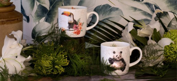 Royal Worcester's beautiful fine bone china mug collections have a design to suit all.